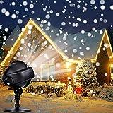 Projektor Licht, LED schneefall wasserdichte Projektionslampe 3 Modi mit Fernbedienung Timing Schneeflocke licht für Weihnachten Party Hochzeit