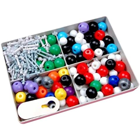Molecular Model Set - Organic and Inorganic Chemistry / Comes with a Sturdy Plastic Case for Storage, model 3 - Singole Organico