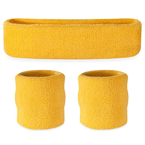 Suddora Headband / Wristband Set - Sports Sweatbands For Head And Wrist