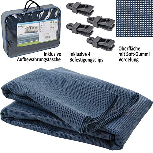 Vorzeltteppich 300x600 Dunkel-Blau Campingteppich Zeltteppich Wohnwagen Wohnmobil Zeltunterlage Outdoor Camping Vorzelt Markise Teppich Markisenteppich Vorzeltboden Zeltboden Outdoorteppich