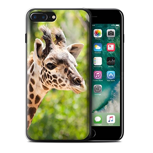 Stuff4 Hülle / Case für Apple iPhone 7 Plus / Koala Muster / Wilde Tiere Kollektion Giraffe