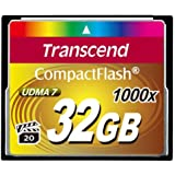 Transcend Ultimate CompactFlash 32GB Speicherkarte (1000x , 160MB/s Lesen (max.), Quad-Channel, VPG-20 Video Performance)