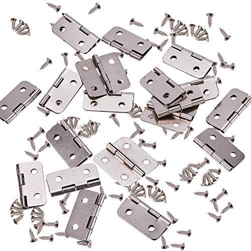 INCREWAY Mini-Scharniere mit passenden Schrauben für Schmuckkästen, Holz, 50 Stück