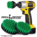 Drillbrush Kit Marca Quick Change Shaft Presa Rotary pulizia setole in nylon spazzola di pulizia verde