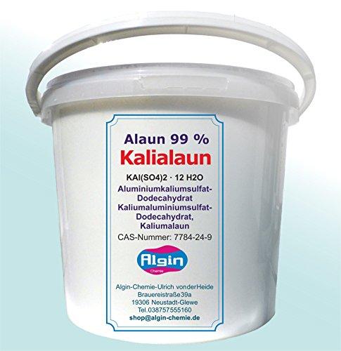 Algin Kalialaun 5 kg Eimer Aluminiumkaliumsulfat-Dodecahydrat Natur