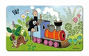 Frühstücksbrettchen Der kleine Maulwurf Lokomotive: aus Melamin