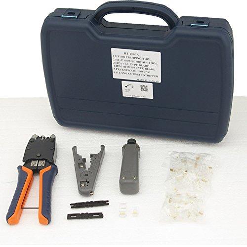 RJ11, RJ45-Streifen und zudrücken Kit