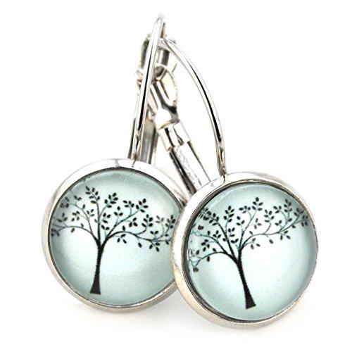 Ohrhänger zart Blätter Baum Modeschmuck Ohrringe silber-farben ()