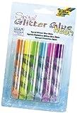 folia 576 - Glitter (Glue Spiral) neon