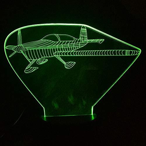 tlicht 7 Farbwechsel Remote Touch USB Flugzeuge 3D Illusion Led Tischlampe Kinder Schlafzimmer Dekor Geschenk ## 3 ()
