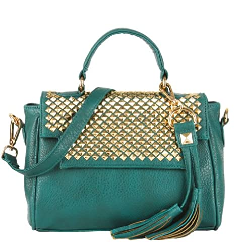 HotFuleco Women's Soft Leather Roxie Studded Bag