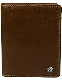 Brown Bear Ausweisetui Geldbörse Leder vintage braun Country 6