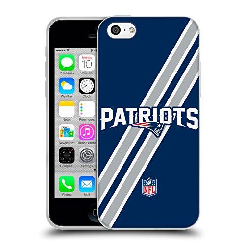 Offizielle NFL Einfarbig New England Patriots Logo Soft Gel Hülle für Apple iPhone 6 / 6s Streifen
