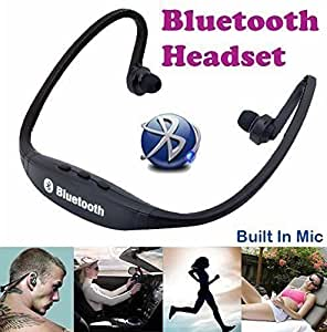 Wireless Bluetooth On-ear Sports Headset |Headphones (with Micro Sd Card Slot and FM Radio) Compatible with LG L70 BLACK By mobicell