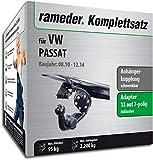 Rameder Komplettsatz, Anhängerkupplung schwenkbar + pol Elektrik für VW Passat (113074-09003-3)