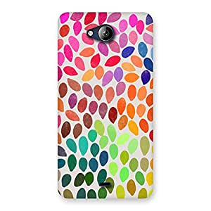 Neo World Colourful Finger Prints Back Case Cover for Canvas Play Q355
