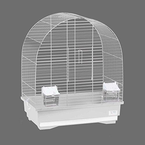 CTC-Trade| Vogelkäfige XL Weiß Außenmaße 40x25,5x47,5 cm Urlaub Reisekäfig Zubehör Wellensittich Futternapf Kanarienkäfig Plastik Vogel Modell KS8