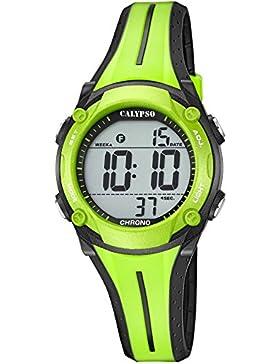 Calypso Damen-Armbanduhr Digital Quarz grün schwarz K5682/A