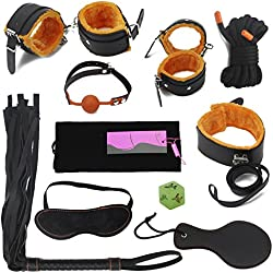 Hisionlee 10pcs fetish bondage catene raccolta sistema letto Sex Love, Arancione