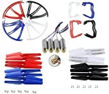 Aiskaer 4 Colors Syma X5 X5C X5C-1 Spare Parts Main Blade Propellers & High quality Motor with Brass Gear & Propeller Protectors Blades Frame & Landing Skid Included Mounting Screws