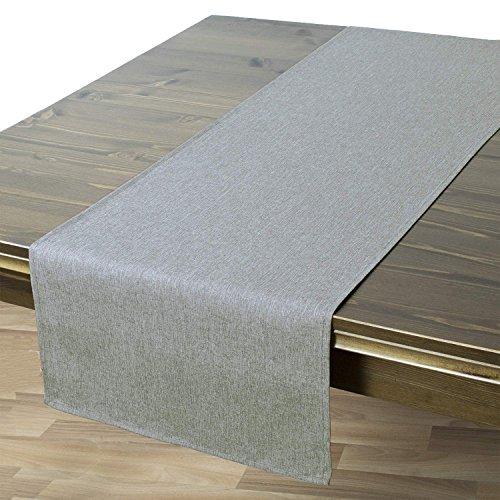 Tischläufer Wien, Grau, 40x140 cm, Fleckschutz, Tischläufer für Das Ganze Jahr
