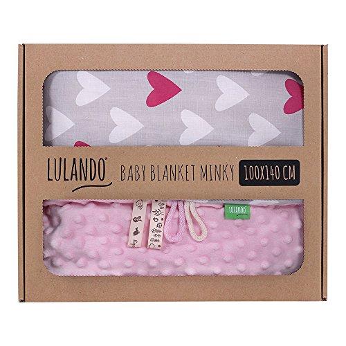 LULANDO Babydecke Kuscheldecke Krabbeldecke aus 100% Baumwolle (100x140 cm). Super weich und flauschig. Kuschelige Lieblingsdecke für Ihr...
