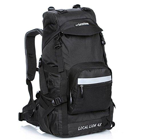 Bergsteigen, Latex, 45 l Wandern camping Rucksäcke große Kapazität Rucksack Tasche Black