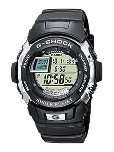 CASIO G-Shock G-7700-1ER - Reloj de caballero de cuarzo, correa de resina color negro (con cronómetro, alarma, luz) marca Casio