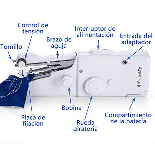 Arespark Máquina de Coser Manual de Puntada de Costura Mini Manual Portátil de Viaje.