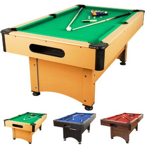5 ft Billardtisch Trendline, 3 verschiedene Farbvarianten, massive Ausführung + Zubehör (2 x Queue, Kugelset, Dreieck, Kreide, Bürste) Pool Billard 5 Fuß