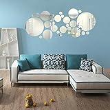 Kingko® Round Acrylic Mirror Background Wall Sticker Bedroom Decoration