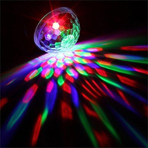 KingSo LED Luz Giratorio automático Etapa iluminación 5W RGB sprachak tiviertes Cristal Magic Ball etapa luz para Show DJ Disco Ball kreissaal KTV Varilla Stadium Club Party