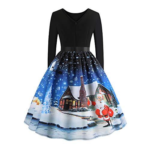 Oliviavan Frauen Vintage Kleid Damen Einfaches Basic Hepburn -