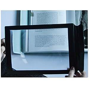 YINGMAN Grand format A4–Grande loupe rectangle de lecture Loupe Loupe de lecture d'assistance
