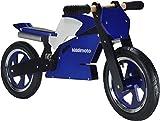 Kiddimoto 115 - Laufrad Superbike blau weiss für Kinder ab