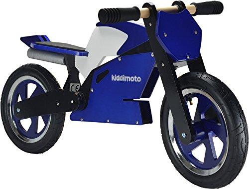 Kiddimoto 115 - Laufrad Superbike blau weiss für Kinder ab 2 Jahre