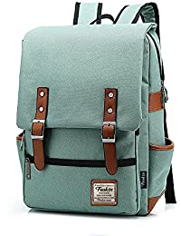 Professional Slim Laptop Backpacks, FEWOFJ Fashion Travel Daypack Casual business College Rucksack for Men Women, Work, Macbook, Tablet - Green