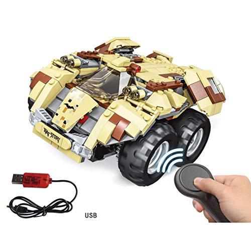 USB Lade Baustein DIY Elektrische Superhelden App-Controlled Batmobil Bausatz RC Auto Modell Für Kinder ()