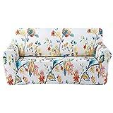 FORCHEER 1 Sitzer Sofabezug Sofaüberwurf Sesselhussen Elastisch Hautfreundlich 90-135cm