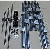 Gowe 3Sets unterstützt Rails sbr16Rails + 12SBR16UU + 3ballscrews rm1204–850/650/350mm + 3Sets BK/BF10+ 3Register