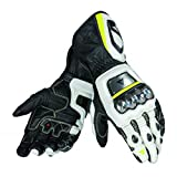Dainese–Handschuhe Full Metal D1–Schwarz/Weiß/Giallo-Fluo–S