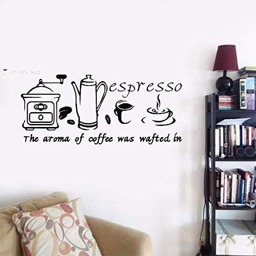 Wandaufkleber Kinderzimmer Wandtattoo Schlafzimmer Home Decor Stciker Inspirierend Kaffee Espresso Zitat Für Küche Cafe Restaurant Für Küche Oder Esszimmer - Espresso-esszimmer
