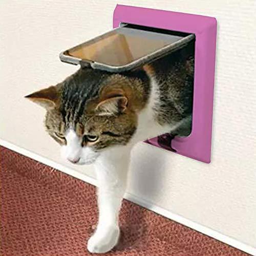 FXQIN Puerta abatible para Gatos, Kit de 4 Puertas de Bloqueo magnético Inteligente para Mascotas, Gatitos y Gatitos, fácil instalación, Exterior fácilmente,M