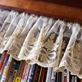 Cafe Curtains Tenda da caffè,Tendine a metà Finestra,Oscurante Mezza Tendina,Trasparente,Stile Country Americano
