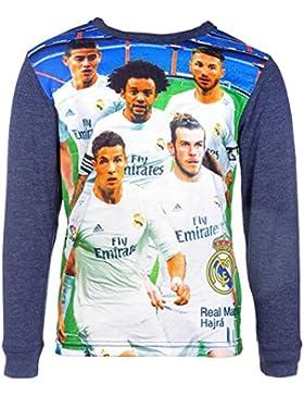 Real Madrid Langarm-Shirt, original Lizenzware, dunkelblau, Gr. 98-128