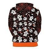 OverDose Damen Liebhaber Scary Halloween Ghost 3D Real Print Party Clubbing Charming Lange Ärmel Top Caps Sweatshirt Bluse Pullover Vergleich