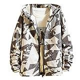 Zolimx-Bekleidung Herren Kapuzenpullover Herbst Winter Langarm Kapuzen Sweatshirt Reißverschluss Outwear Tops Bluse Sweatjacke Sport Outdoor Sweatshirt Pullover Mantel