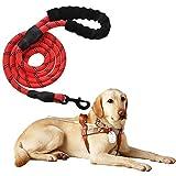 Litthing Hundeleine aus Reflektierendem Nylon Sicherheit für Große oder Mittlere (rot)