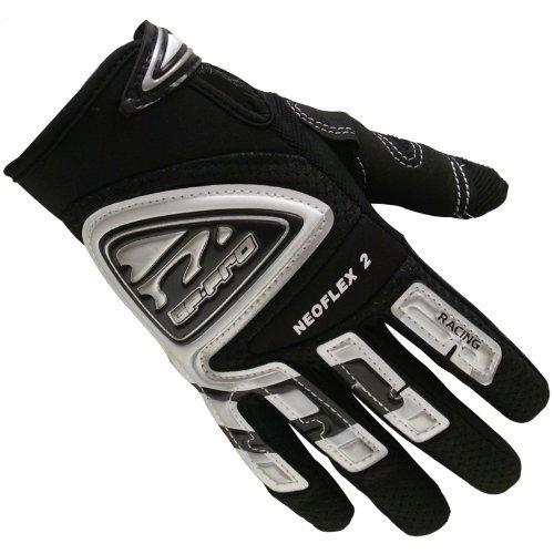 GP-Pro Neoflex 2 Adult Motorrad-Handschuhe - Racing/Quad/Motocross - Schwarz - S (Doppel-manschette-handschuhe)