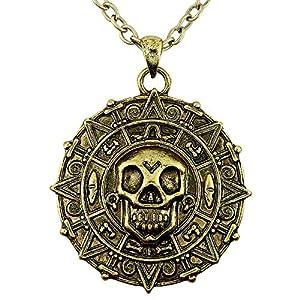 WIDMANN Collar medallón pirata adulto